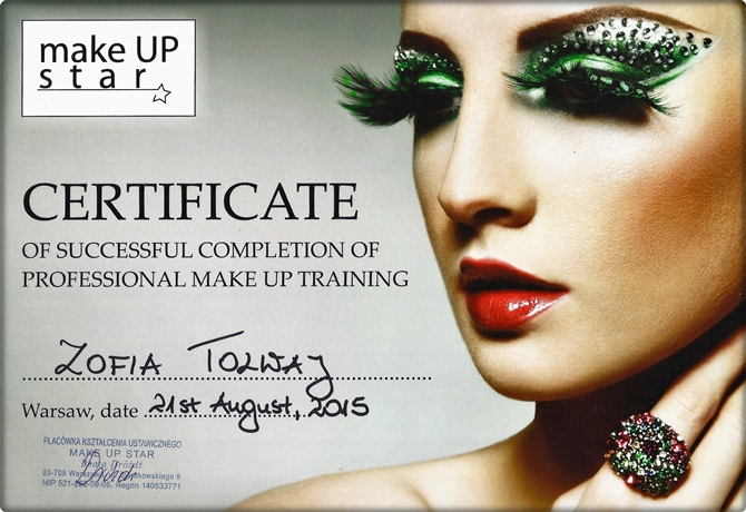 Zofia Tolwaj make up artist